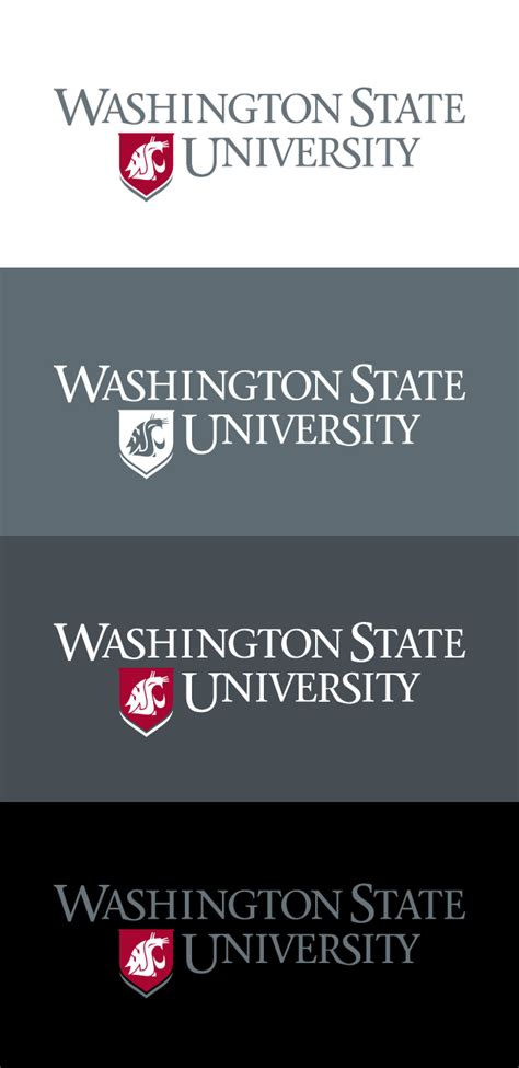 wash u colors logos brand washington state