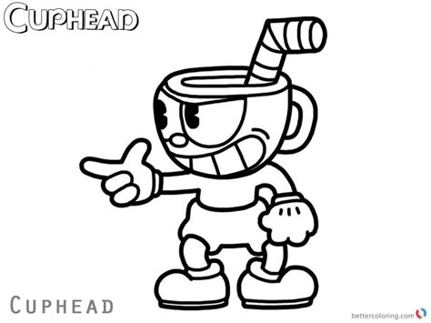 Cuphead And Mugman Coloring Pages