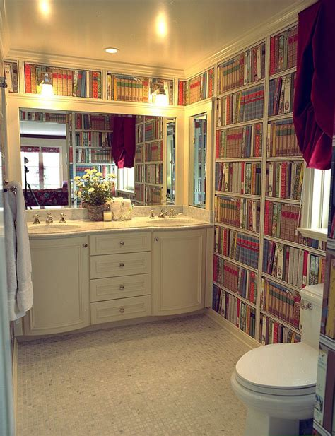 15 ingenious bathrooms that embrace your for books