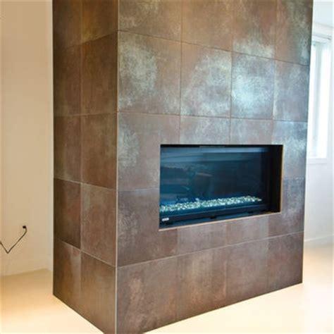 Metallic Tile Fireplace metallic porcelain tile fireplace tiled fireplaces