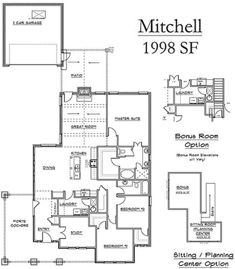 Mitchell Homes Floor Plans | edmond ok has bungalow style homes with mitchell collection