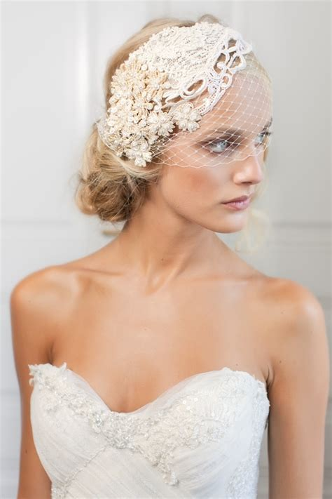 Wedding Updo With Veil And Blusher by Stylish And Sophisticated Birdcage Veils Chic Vintage
