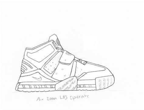Lebron 11 Shoes Coloring Pages Lebron Coloring Pages