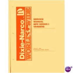 User Service Manual For Dixie Narco Mpc Multi Price Soda