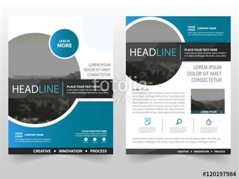 quot blue circle vector business proposal leaflet brochure