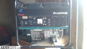 armslist for sale cummins onan 4000 pro generator