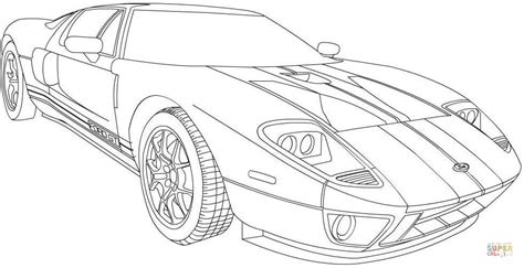 2006 ford gt coloring page free printable coloring pages