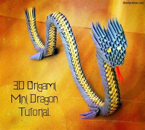 3d origami chinese dragon tutorial 3d origami dragon tutorial art platter