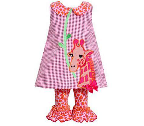bonnie jean bonnie jean fuchsia giraffe legging set