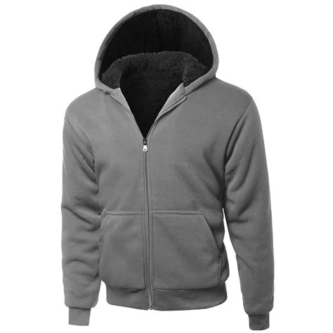 Jaket Zipper Hoddie Sweater 2 s hoodie zip up jacket sherpa lined with quilted sleeves sweater ebay