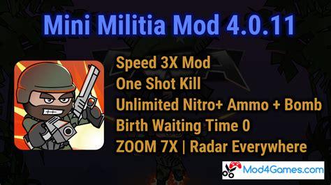 game mod rpg s 0 3x mini militia 4 0 11 mod speed 3x mod one shot kill