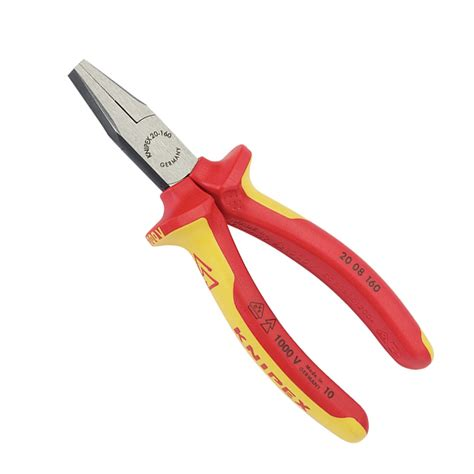 Electric Flat Nose Pliers P E105fn draper 31968 expert knipex fully insulated flat nose pliers 160mm