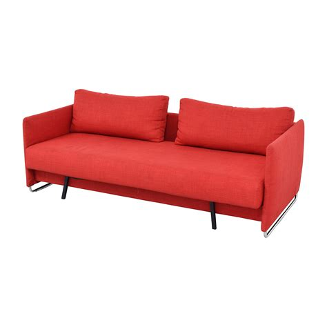 cb2 couches 74 off cb2 cb2 tandom red sleeper sofa sofas