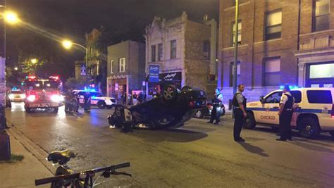 Times Square Hit And Run by Car Overturns In Logan Square Hit And Run Crash Cbs Chicago