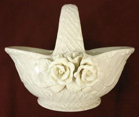 Oval Vases Ceramic Porcelain Flower Basket Vase With Roses Flower