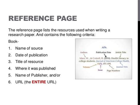 research paper reference page apa format style power point