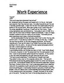 My College Experience Essay by Work Experience Essay Reportz725 Web Fc2