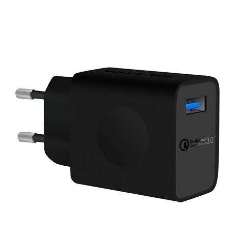 Voxlink Charging 3 0 Q C 3 0 Travel Charger 3 0 A Eu voxlink charger usb qc 3 0 black jakartanotebook