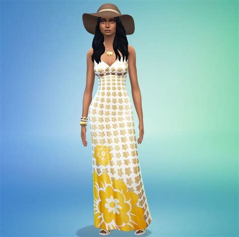 Flowerly Maxy flowery maxi dress by ladybubblegum at mod the sims 187 sims 4 updates