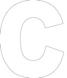 Large Letter C Template by Free Printable Alphabet Template