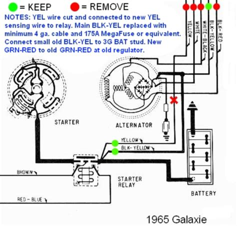 delco ford alternator wiring diagram ford mustang