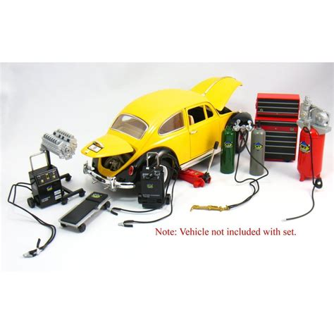 Metal Diecast kinsfun 1 18 scale diecast metal garage shop accessory set acapsule toys and gifts