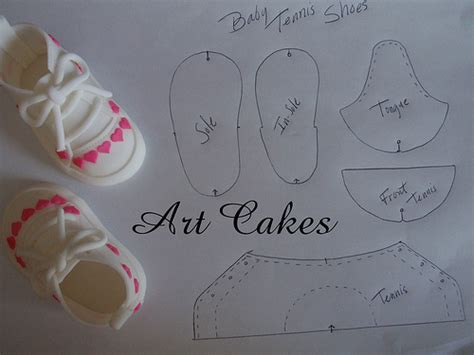 baby tennis shoes template flickr photo