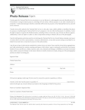 photo release form templates fillable & printable