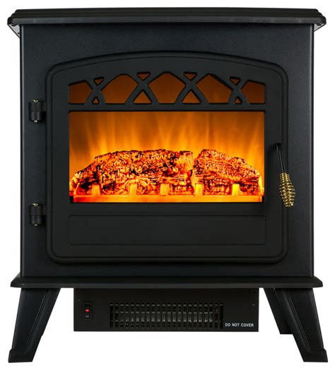 akdy portable free standing electric fireplace heater