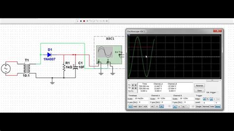 rectifier circuit lab half wave rectifier circuit simulation