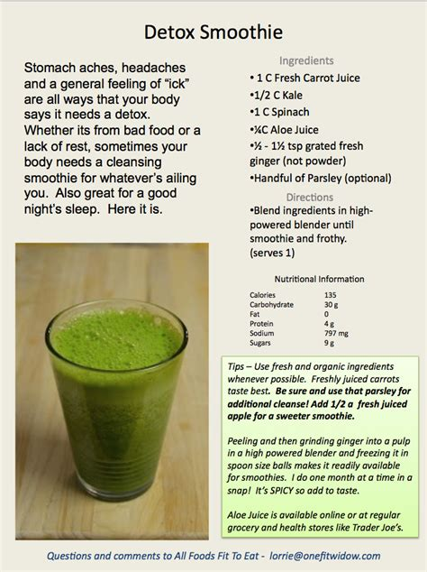 Detox Smoothie Recipes With by Detox Smoothie 1fw