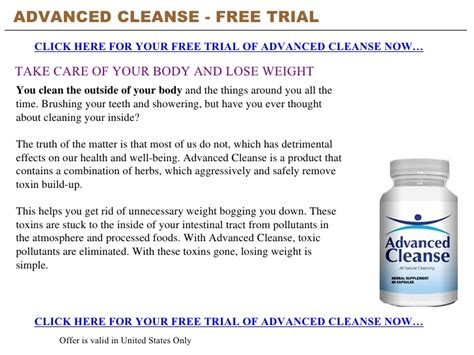 Link Detox Free Trial by Advanced Cleanse Free Trial