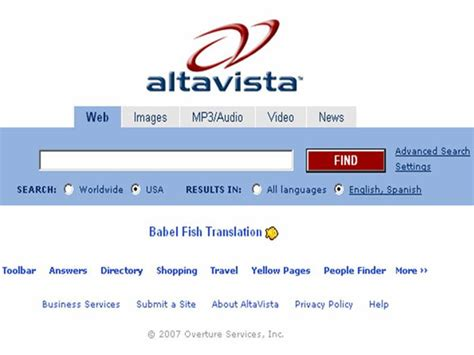 Search Engine Search Hasta La Vista Altavista A Once Mighty Search Engine