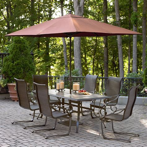 garden oasis patio furniture manufacturer garden oasis essex 9 ft h umbrella outdoor living