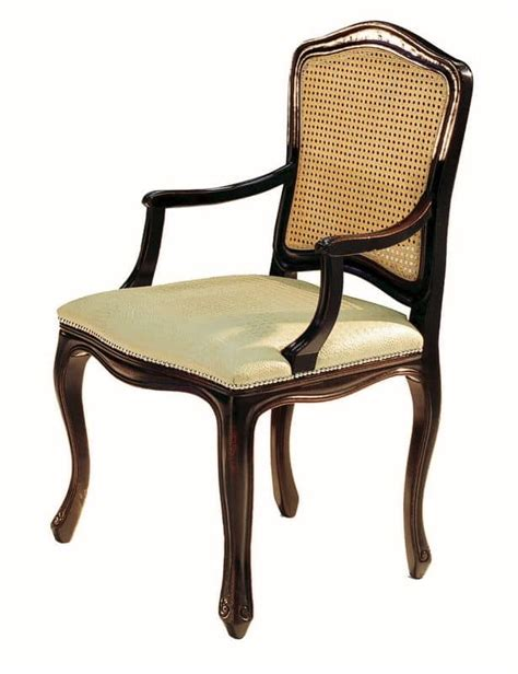 Small Upholstered Armchair Black Lacquered Small Armchair With Seat Upholstered In