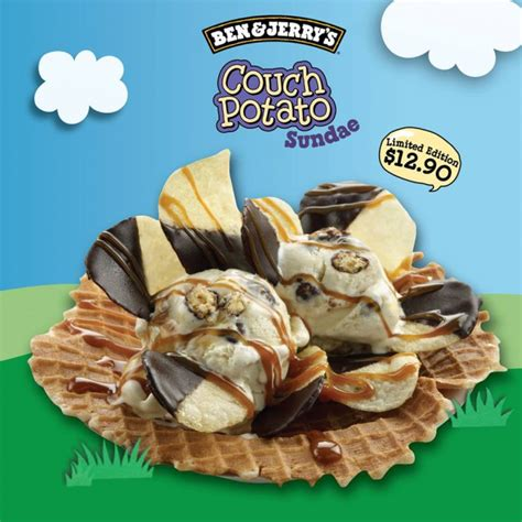 ben and jerry s couch potato ben jerry couch potato sundae limited edition new