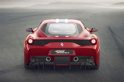 ferrari 458 back ferrari 458 speciale unveiled