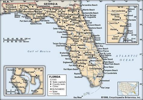 florida cities map florida map population history facts britannica