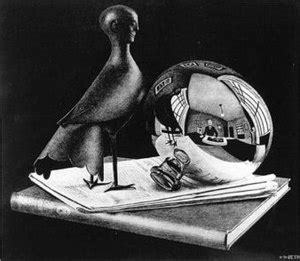 biography of escher the artist still life with spherical mirror wikipedia