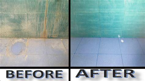 clean bathroom tiles  home   clean bathroom floor  home youtube