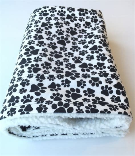 Blankets With Dogs On Them by Paw Print Pet Blanket Blanket Flannel Baby Blanket