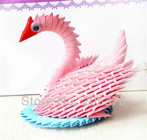 3d Origami Swan For Sale - aliexpress buy 3d handmade origami swan beutiful