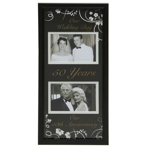 Moments Now and Then Picture Frame   50th Wedding