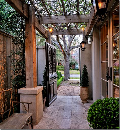 garden between houses door living all time favorite courtyard in