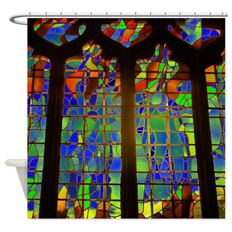 stained glass shower curtain technicolor stained glass shower curtain by housebeautiful