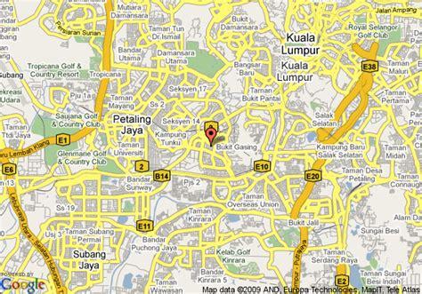 petaling jaya map map of petaling jaya kuala lumpur