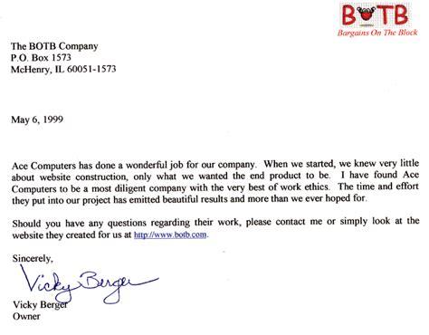 concern recommendation letter