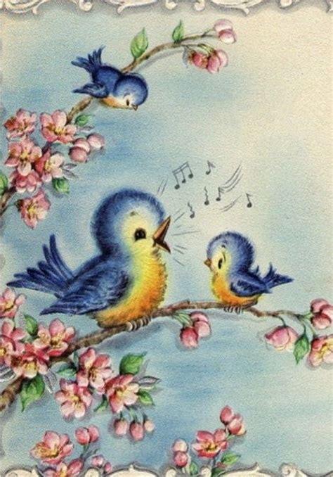 Bluebird Gift Card - vintage bluebird greeting card art bluebirds pinterest