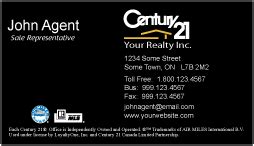 free century 21 business cards template printforlesscanada century 21 business cards