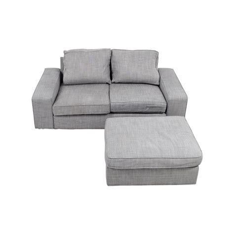 light grey sectional sofa ikea sofa and ottoman kivik kivik three kivik footstool